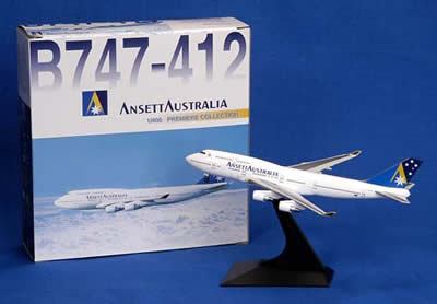 "BOEING B747-412 Die Cast MODEL (""Gold A"" Logo)"